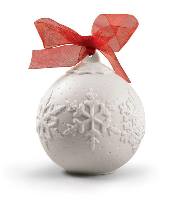 Lladro Porcelain 2019 Ball Christmas Ornament (Re-Deco Red) Christmas Ornaments Lladro