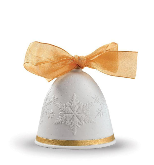 Lladro Porcelain 2019 Bell Christmas Ornament (Re-Deco Gold) Christmas Ornaments Lladro