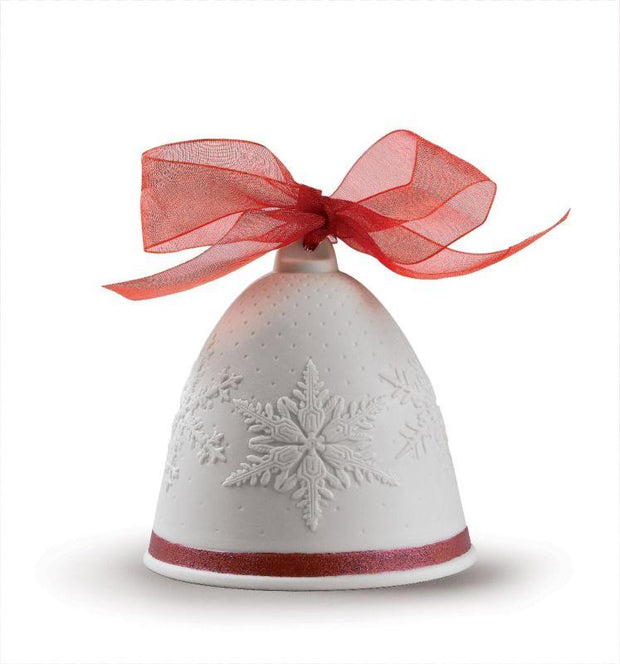 Lladro Porcelain 2019 Bell Christmas Ornament (Re-Deco Red) Christmas Ornaments Lladro