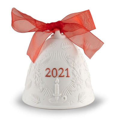 Lladro Porcelain 2021 Bell Christmas Ornament (Re-Deco Red) Christmas Ornaments Lladro