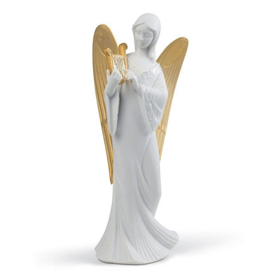 Lladro Porcelain Celestial Melody Angel Tree Topper Figurines Lladro