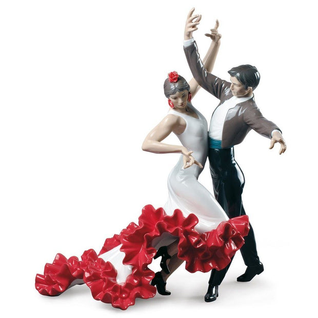 Lladro Porcelain Flamenco Dancers Couple Figurine Figurines Lladro