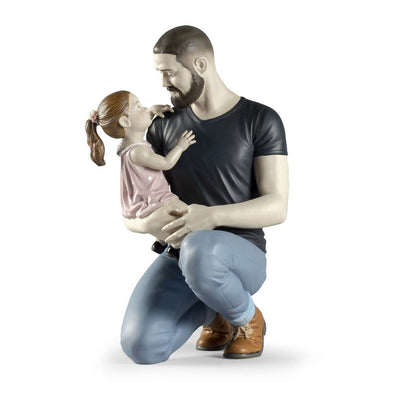 Lladro Porcelain In Daddy's Arms Figurine Figurines Lladro