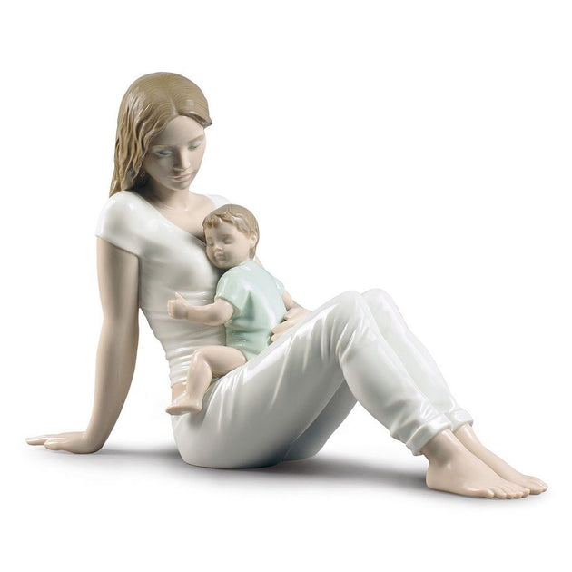 Lladro Porcelain Mother and Child Figurines   Handmade in Spain