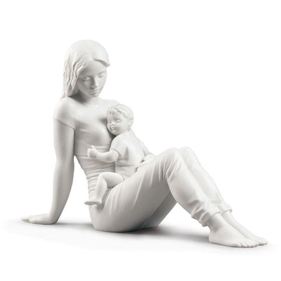 Lladro Porcelain A Mother's Love Figurine Matte White Figurines Lladro