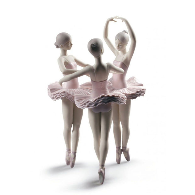 Lladro Porcelain Our Ballet Pose Dancers Figurine Figurines Lladro