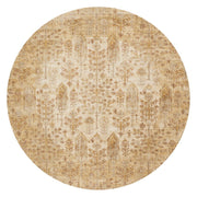 "Loloi Anastasia AF 11 Antique Ivory / Gold Area Rug Rugs Loloi 5' 3"" x 5' 3"" Round"