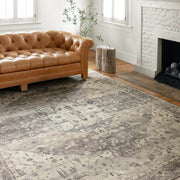 Loloi II Hathaway HTH 05 Grey / Brown / Ivory Area Rug Rugs Loloi