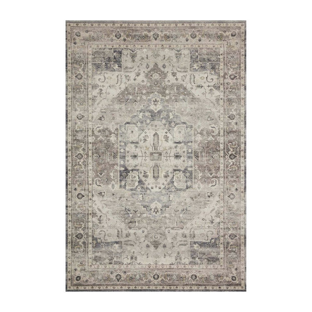 Loloi II Hathaway HTH 05 Grey / Brown / Ivory Area Rug Rugs Loloi 2' x 5' Runner