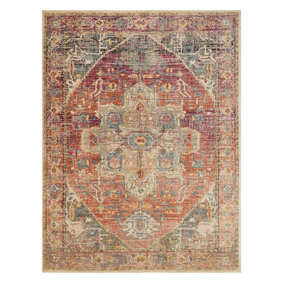 "Loloi Javari JV 08 Berry Sunrise Area Rug Rugs Loloi 3' 7"" x 5' 2"" Rectangle"
