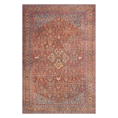 "Loloi Loren LQ 06 Red Multi Area Rug Rugs Loloi 3' 6"" x 5' 6 Rectangle"