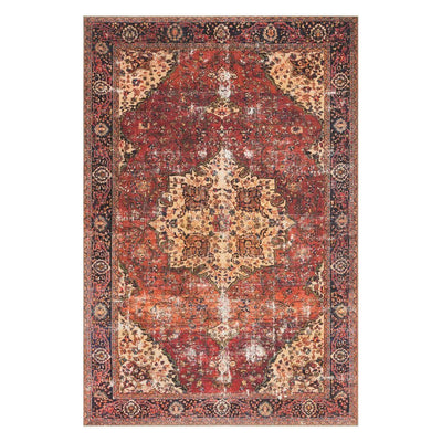 "Loloi Loren LQ 07 Red / Navy Area Rug Rugs Loloi 3' 6"" x 5' 6"" Rectangle"