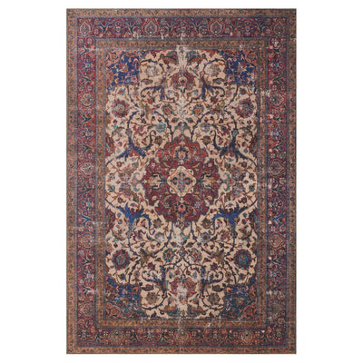 "Loloi Loren LQ 11 Sand / Multi Area Rug Rugs Loloi 3' 6"" x 5' 6"" Rectangle"