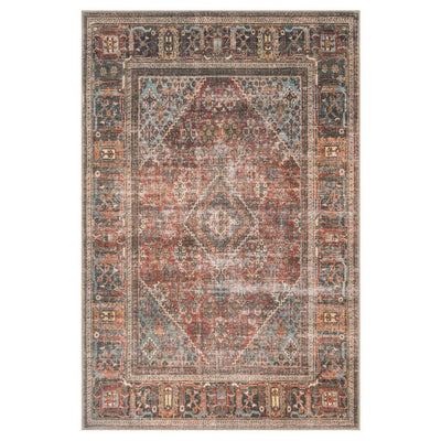 "Loloi Loren LQ 13 Brick Midnight Area Rug Rugs Loloi 3' 6"" x 5' 6"" Rectangle"