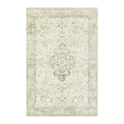 "Loloi II Rosette ROS 02 Ivory / Silver Area Rug Rugs Loloi 2' 2"" x 3' 8"" Rectangle"