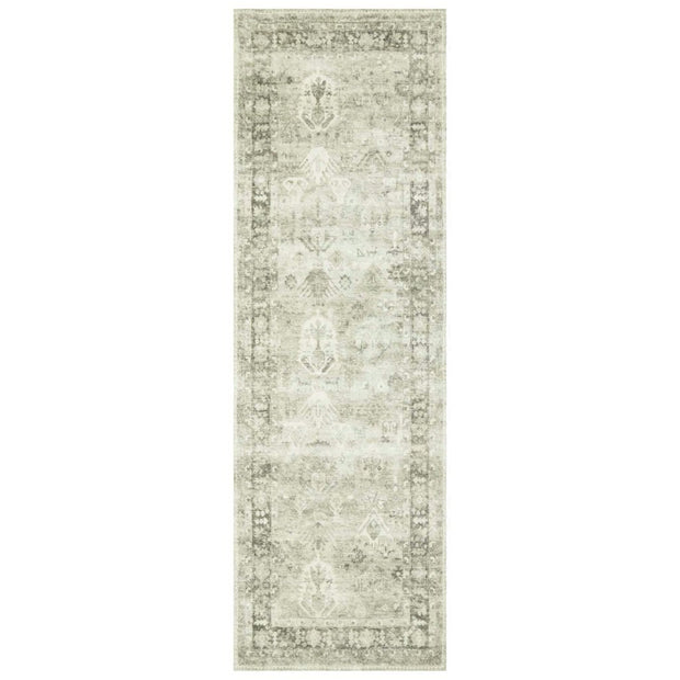 "Loloi II Rosette ROS 04 Grey / Ivory Area Rug Rugs Loloi 2' 6"" x 7' 6"" Runner"