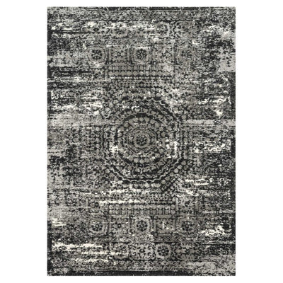"Loloi Viera VR 11 Graphite / Black Area Rug Rugs Loloi 3' 10"" x 5' 7"" Rectangle"