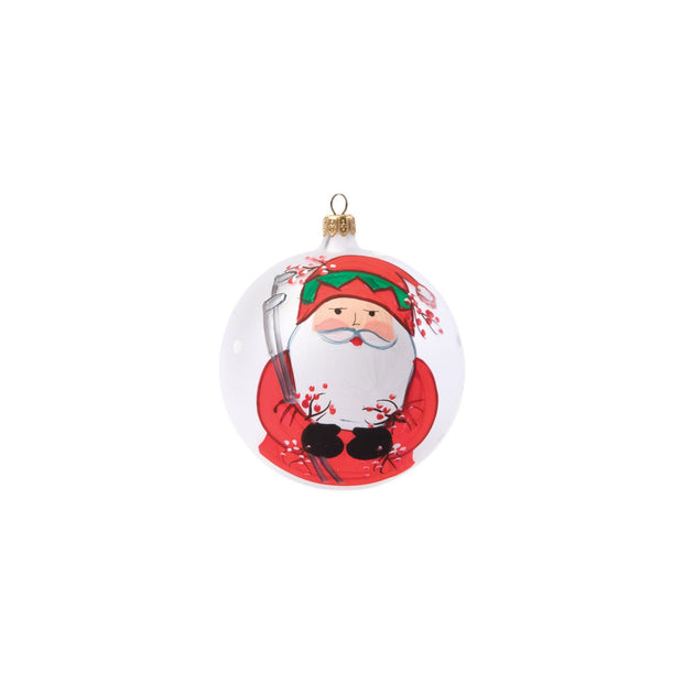 Vietri Old St. Nick Golfing Ornament Dinnerware Vietri