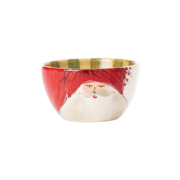 Vietri Old St. Nick Cereal Bowl - Red Hat Dinnerware Vietri