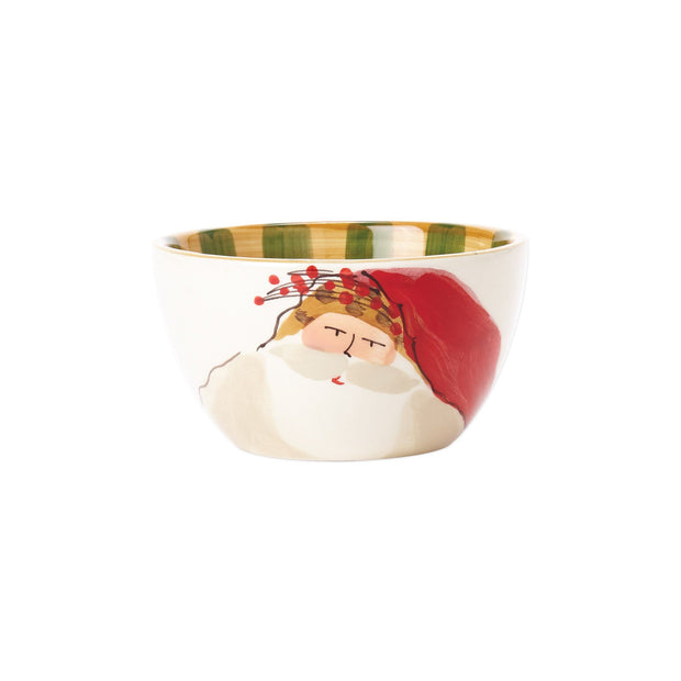 Vietri Old St. Nick Cereal Bowl - Animal Hat Dinnerware Vietri