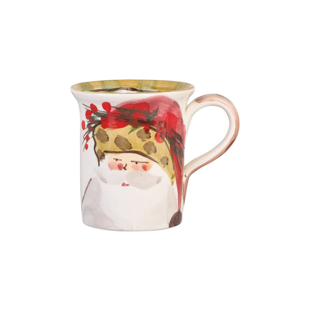 Vietri Old St. Nick Mug - Animal Hat Dinnerware Vietri