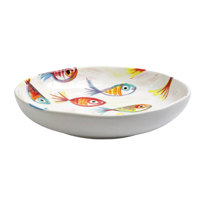 Vietri Pesci Colorati Shallow Bowl Dinnerware Vietri