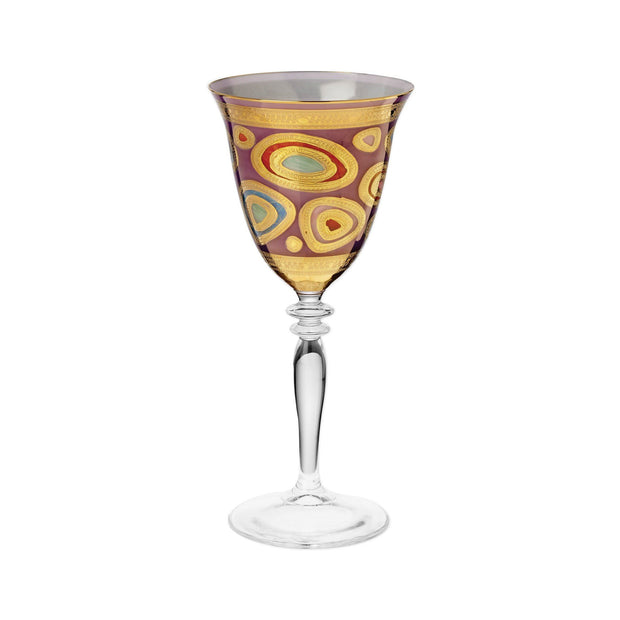 Vietri Regalia Wine Glass Dinnerware Vietri Purple