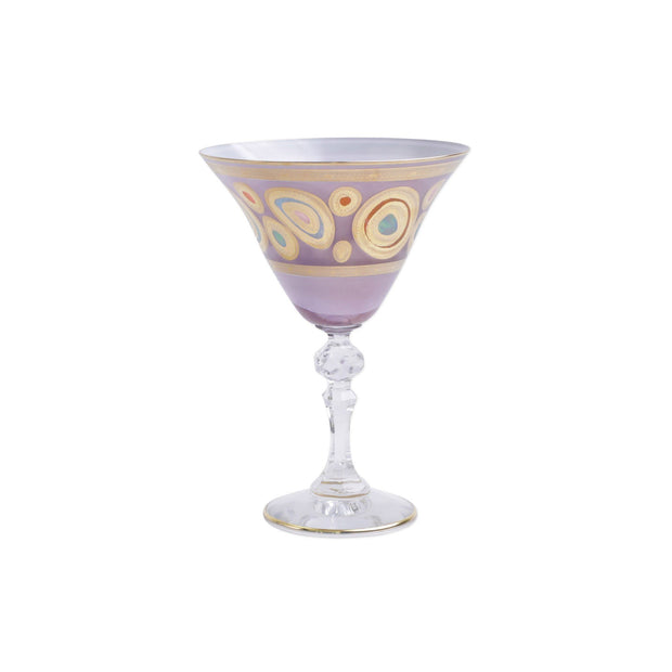 Vietri Regalia Martini Glass Dinnerware Vietri Purple