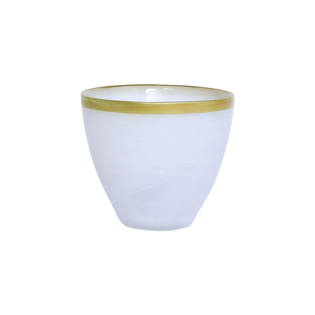 Vietri Rufolo Glass Gold Alabaster Votive Dinnerware Vietri