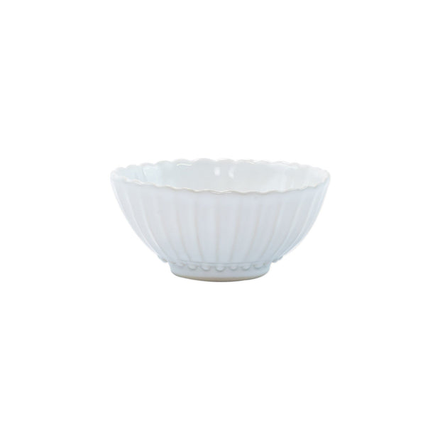 Vietri Incanto Stone White Stripe Small Bowl Dinnerware Vietri