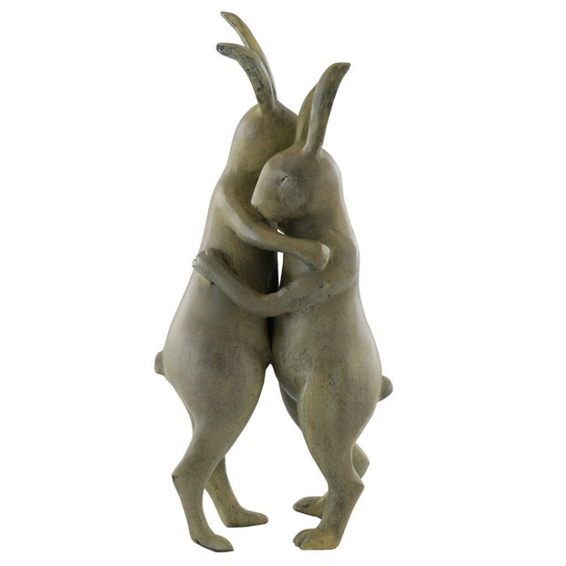 SPI Garden First Dance Rabbit Pair Sculpture Sculptures SPI