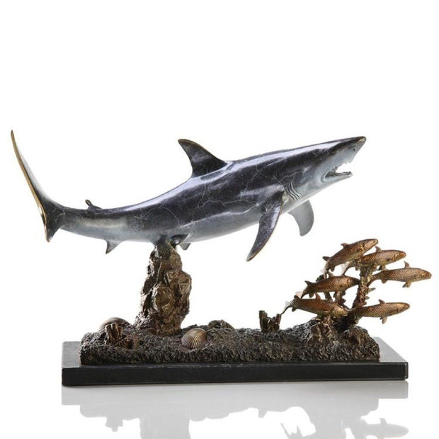 SPI Gallery Shark With Prey Sculpture Sculptures SPI