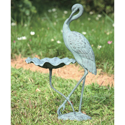 SPI Garden Crane Bird Bath Bird Feeders SPI