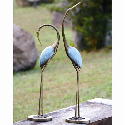 SPI Garden Stylized Crane Pair Sculptures SPI