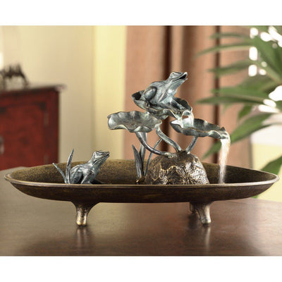 SPI Home Frog Couple Table Fountain Candle Holders SPI