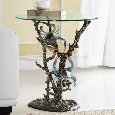 SPI Home Crabs & Coral End Table Tables SPI