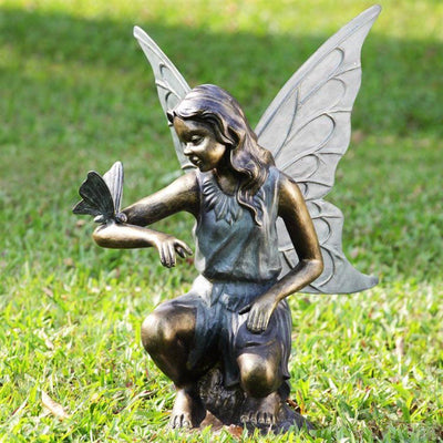 SPI Garden Grace Sculpture Fairy and Butterfly Sculptures SPI