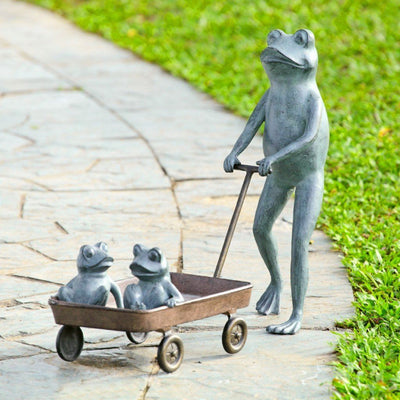 SPI Garden Frog Family with Planter Planters SPI