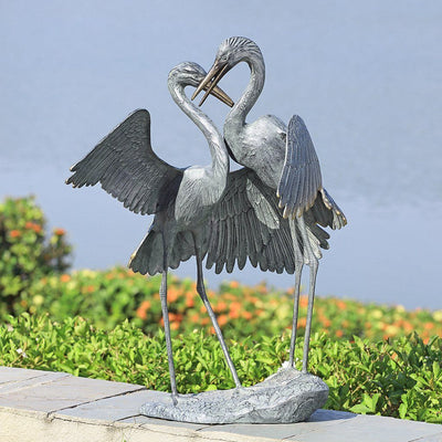 SPI Garden Gentle Embrace Sculpture (Cranes) Sculptures SPI