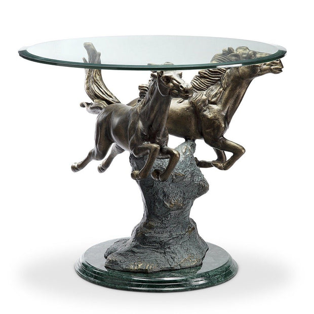 SPI Home Running Horse Pair End Table Tables SPI