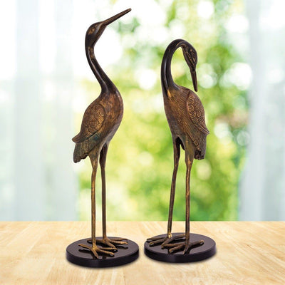SPI Home Heartwarming Crane Couple Sculptures SPI