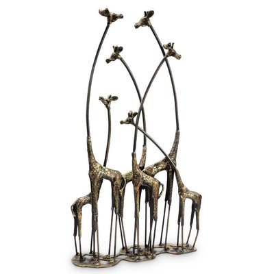 SPI Home Towering Giraffe Herd Sculpture Sculptures SPI