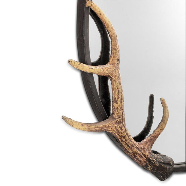 SPI Home Antler Oval Wall Mirror Wall Art SPI