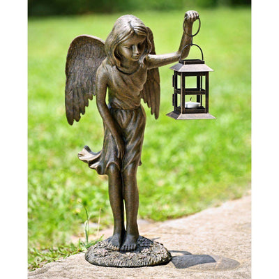 SPI Garden Angel Girl Lantern Sculpture Sculptures SPI
