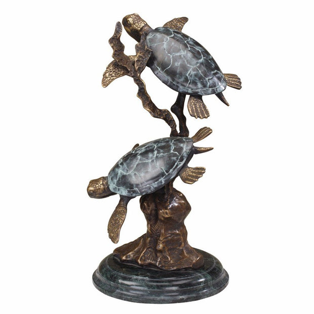 SPI Gallery Large Sea Turtle Duet Sculpture Sculptures SPI