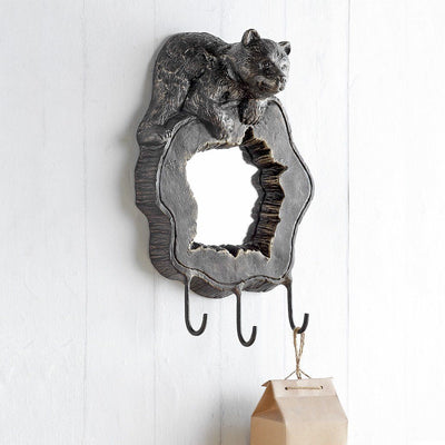 SPI Home Bear Cub Wall Mirror & Hooks Wall Art SPI
