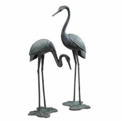 SPI Garden Large Crane Pair Sculptures SPI