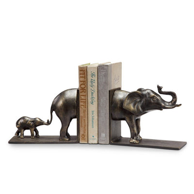 SPI Home Elephant & Baby Bookends Sculptures SPI