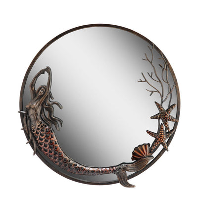 SPI Home Mermaid Round Wall Mirror Wall Art SPI