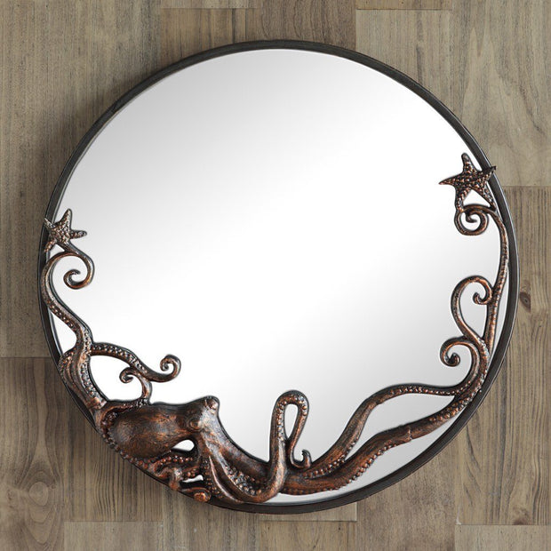 SPI Home Octopus Round Wall Mirror Wall Art SPI